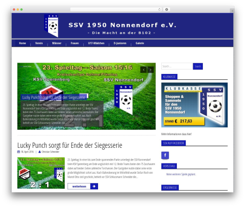 My Focus WordPress theme - ssvnonnendorf.de