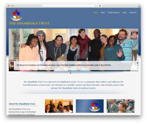 Optimal WordPress website template - shambhalatrust.org