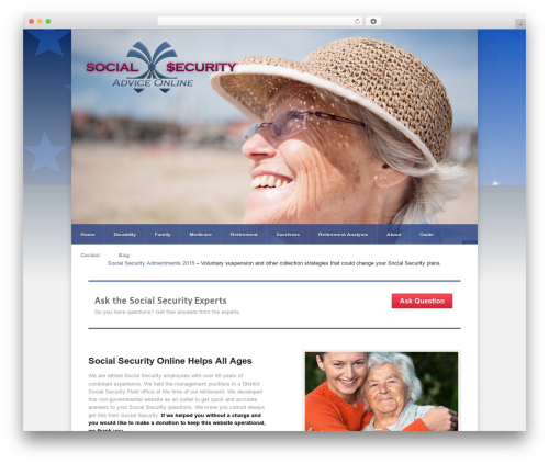 Razor WordPress theme - socialsecurityadviceonline.com