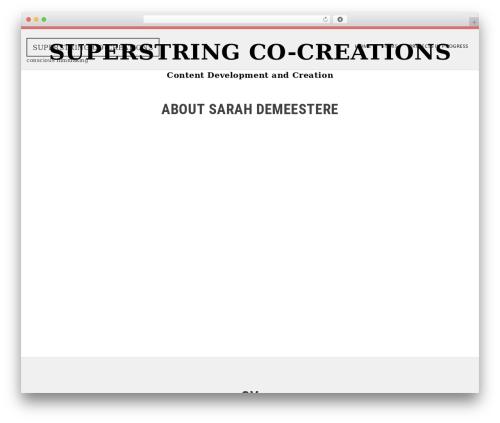 SKT White WordPress theme - superstringcocreations.com