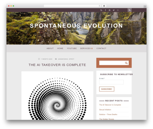 ST Squirrel WordPress theme - spontaneous-evolution.com