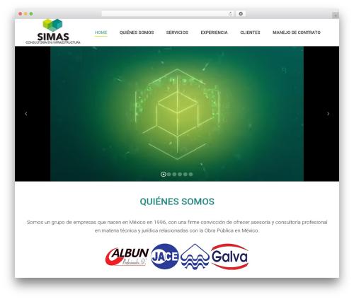 Theme WordPress The7 - simas.com.mx