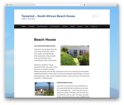 Twenty Eleven free WordPress theme - southafricabeachhouse.com