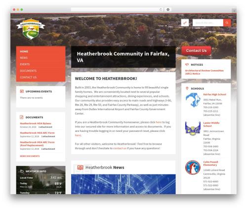 WP theme TownPress - heatherbrookhoa.com