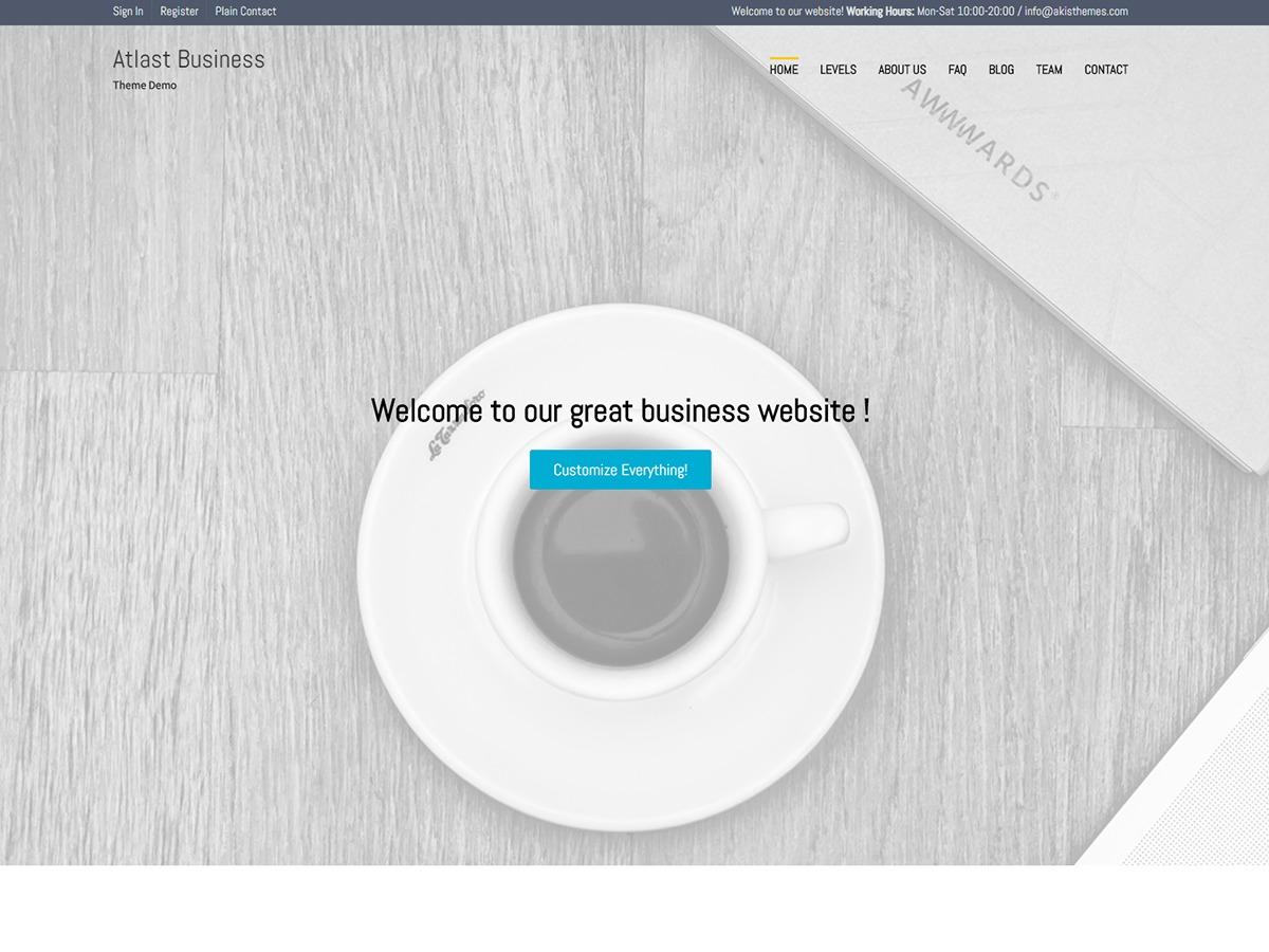 Atlast Business business WordPress theme