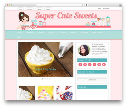 Innovative Child Theme WordPress blog theme - supercutesweets.com