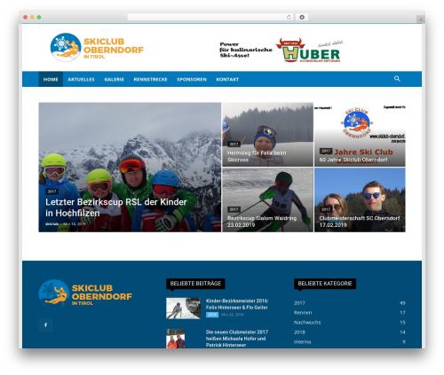 Newspaper WordPress theme - skiclub-oberndorf.at