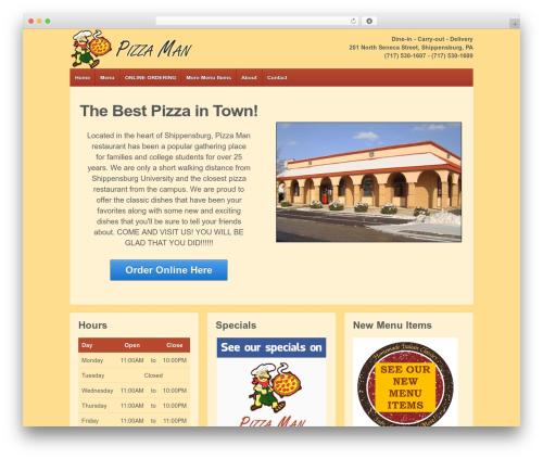 Responsive free WordPress theme - shippizzaman.com
