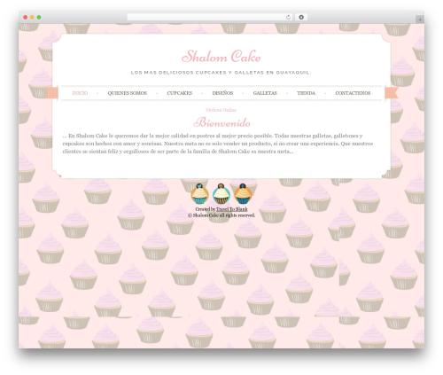 Sugar and Spice WordPress theme - shalomcake.com