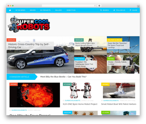 WordPress theme Codilight - supercoolrobots.com