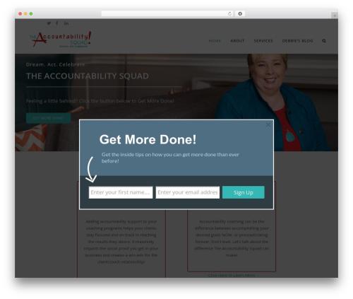 Accountability Squad theme WordPress - theaccountabilitysquad.com