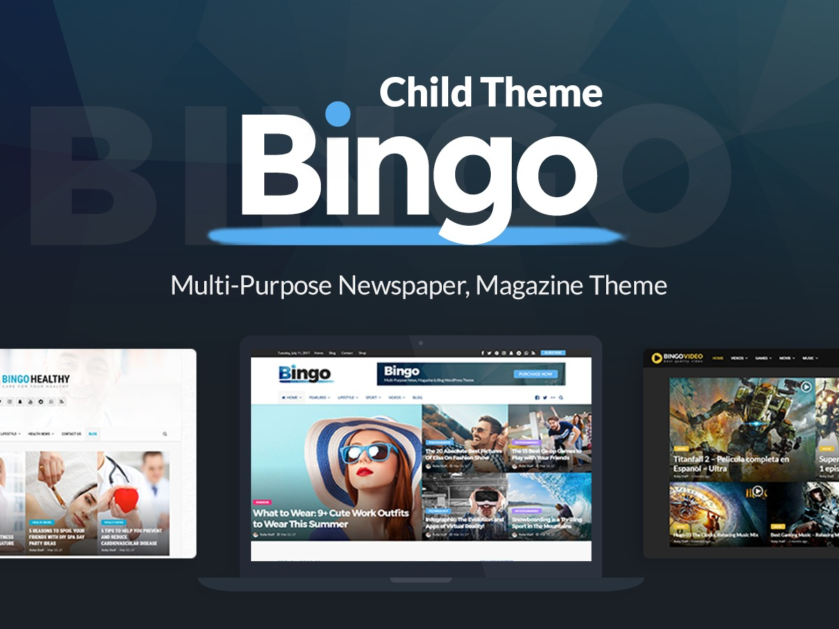 Bingo child best WordPress magazine theme