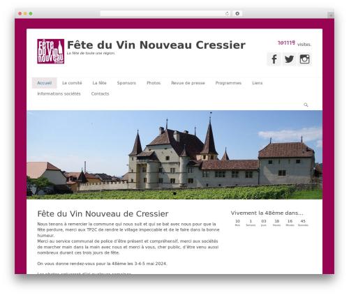 Catch Base Pro WordPress theme design - feteduvin.ch