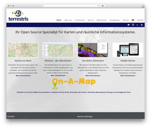 Celestial Reloaded WordPress theme - terrestris.de