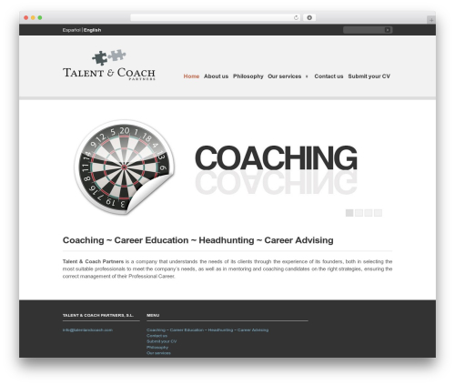 Clearly Modern business WordPress theme - talentandcoach.es