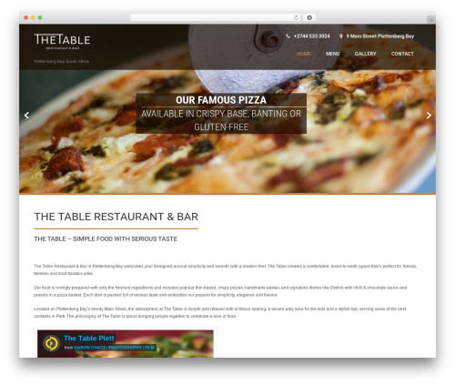 Coffee Pro WordPress restaurant theme - thetable.co.za