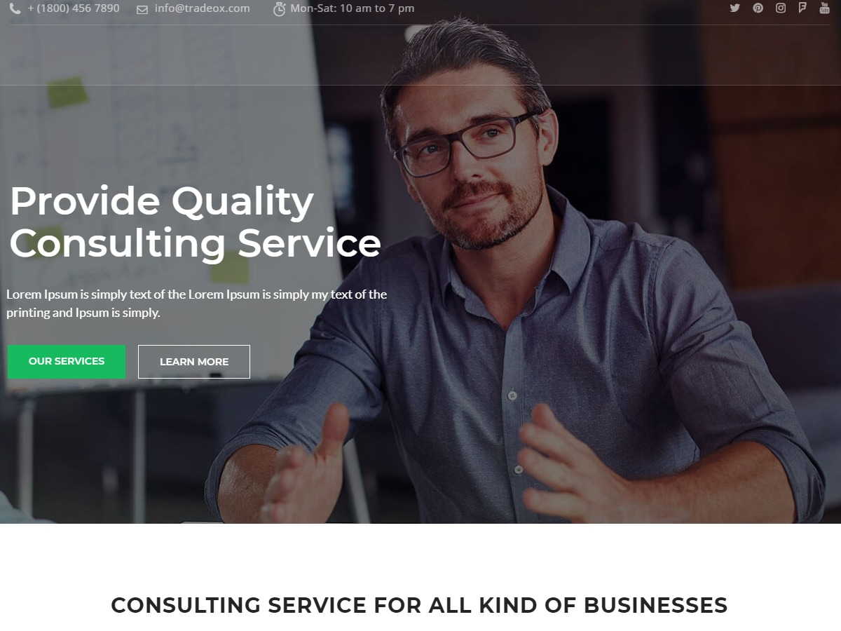Consultplus company WordPress theme
