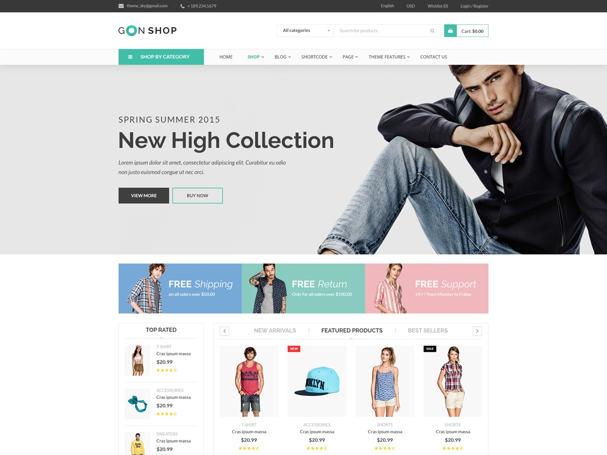 Gon Child premium WordPress theme