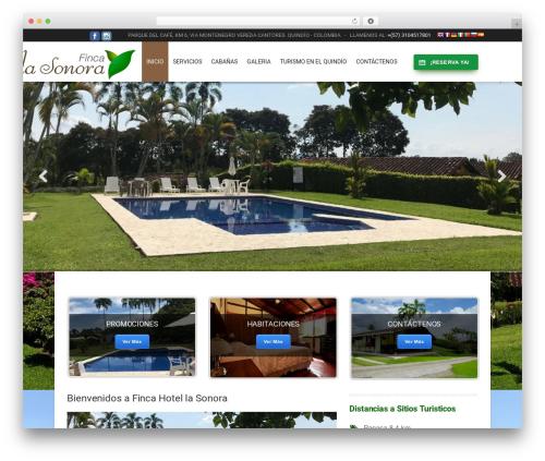 Hotec best hotel WordPress theme - fincalasonora.com