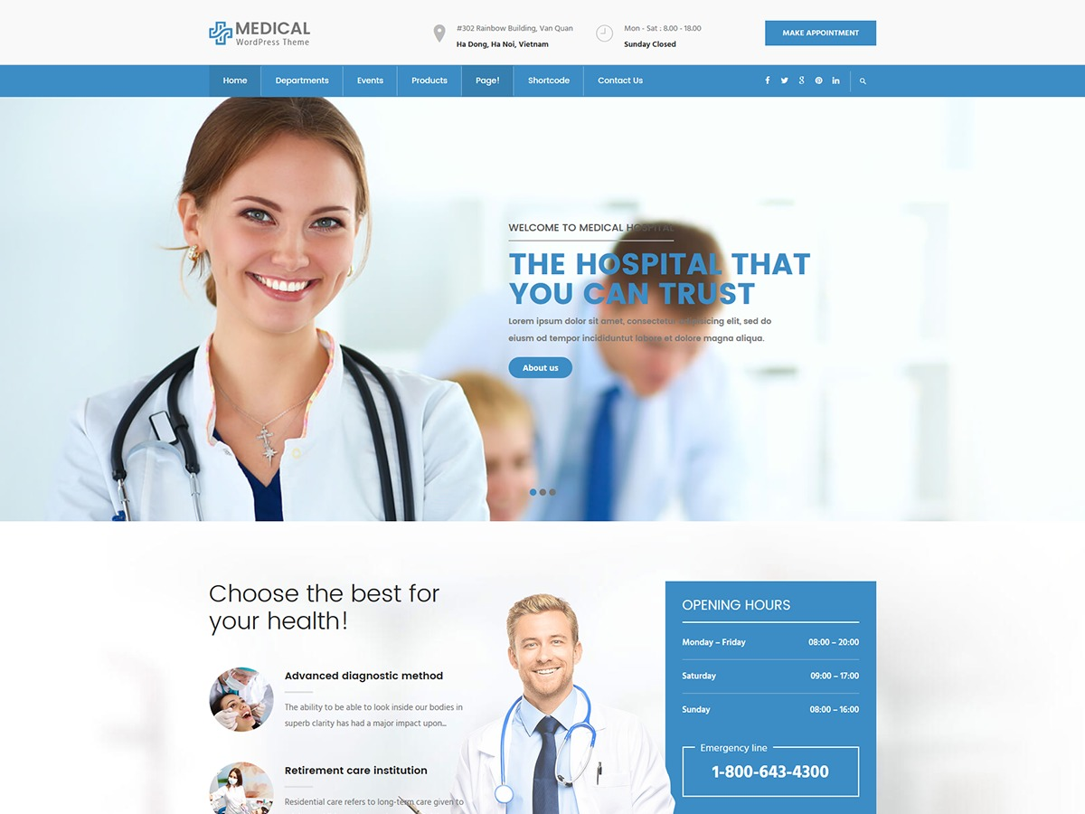 InMedical medical WordPress theme
