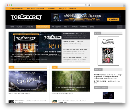 Novomag Theme best WordPress magazine theme - topsecret.fr