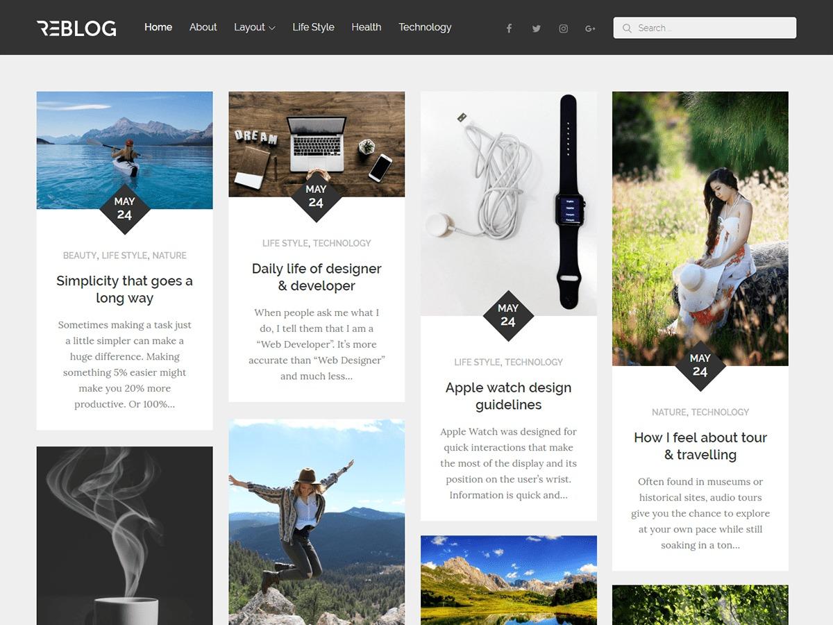 ReBlog WordPress blog theme