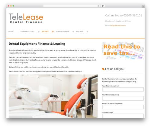 Salient WordPress website template - telelease.com/asset-finance/dental-equipment-finance