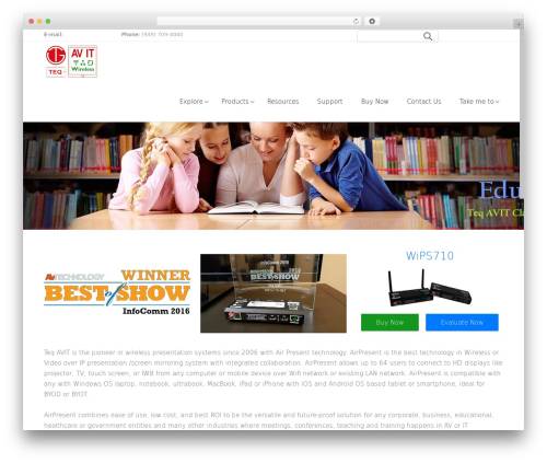 Satellite7 WordPress theme - teqavit.com