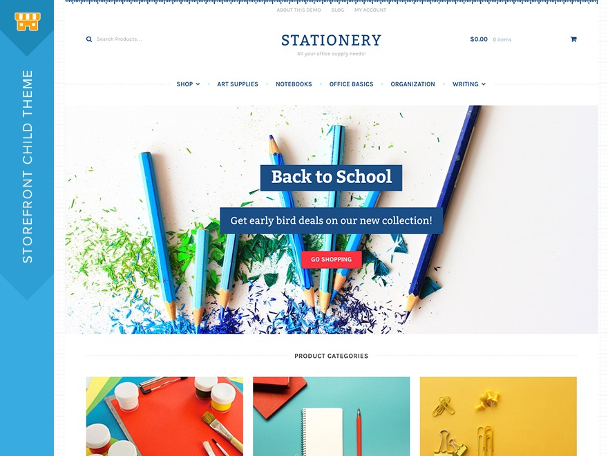 Stationery WordPress shop theme