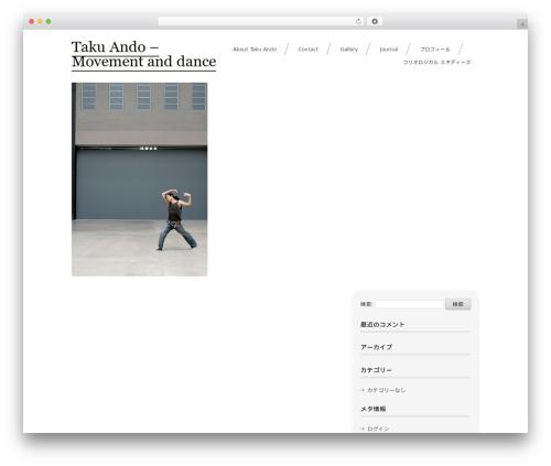 sugar WordPress page template - takuando.com