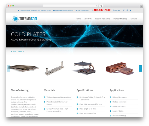 Template WordPress The7 - thermocoolcorp.com/project/cold-plates