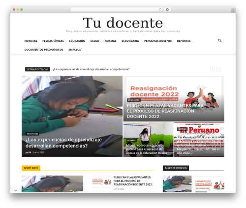 WordPress td-multi-purpose plugin - tudocente.com