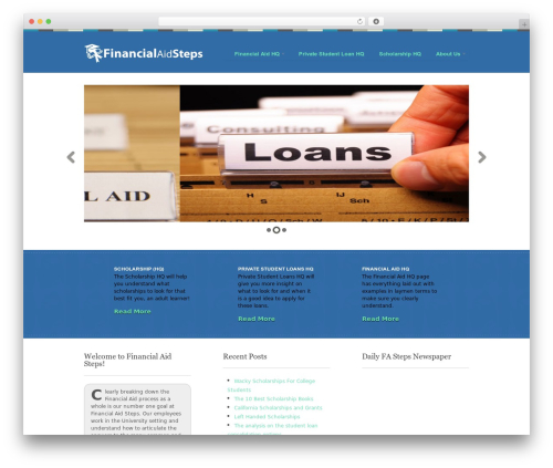Theme WordPress Swatch - financialaidsteps.com