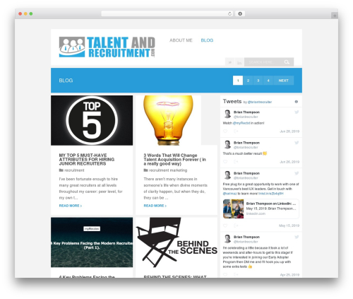 Theme WordPress Wunder - talentandrecruitment.com