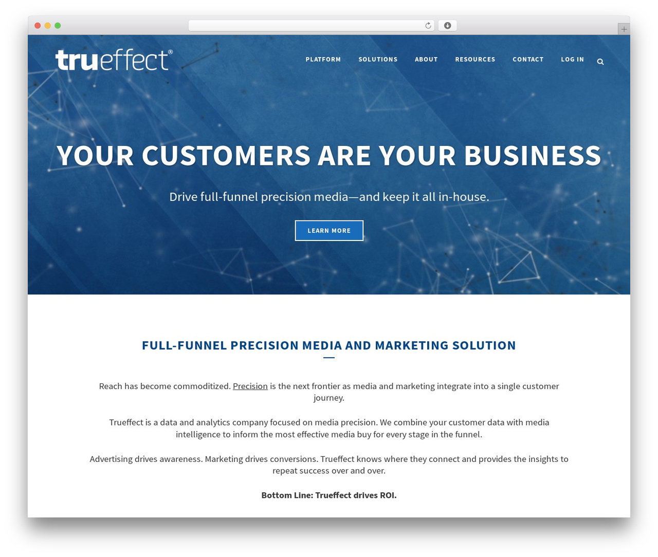 Trueffect 2016 WordPress template for business - trueffect.com
