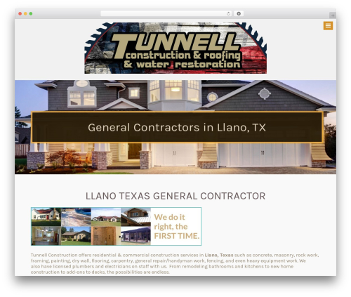 Theme WordPress Tunnell Construction by 887 Media