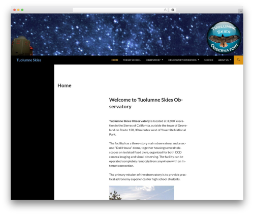 Free WordPress Super Simple jQuery Parallax Background plugin - tuolumneskies.com