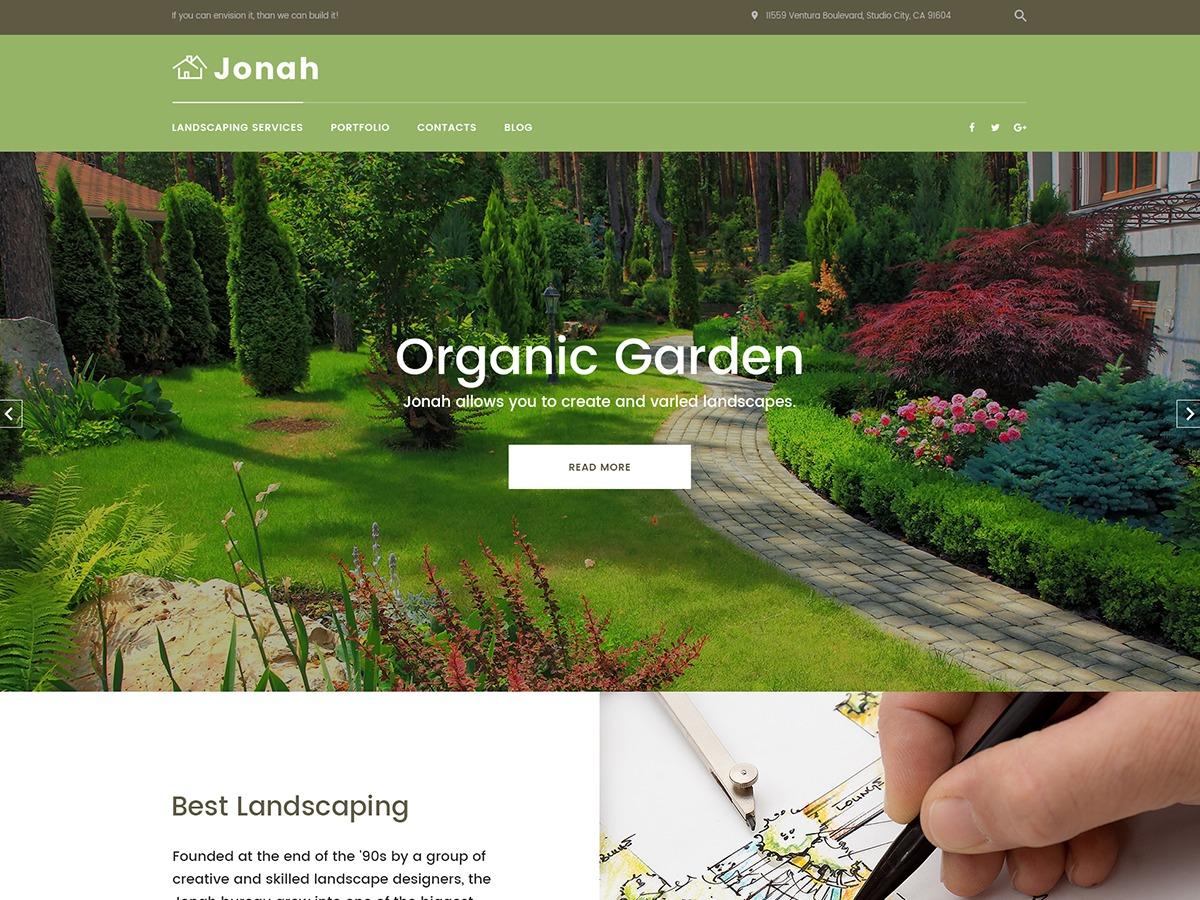 WordPress template Jonah