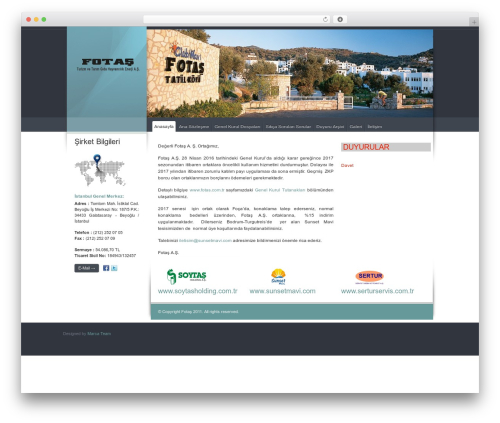 WordPress theme Celta Business - fotas.com.tr