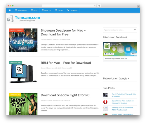 WordPress theme Codilight - temcam.com