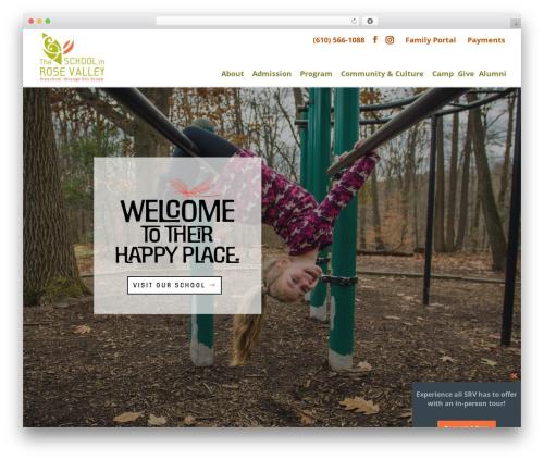 WordPress theme Divi - theschoolinrosevalley.org