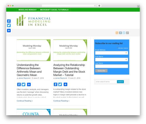 WP-Brilliance WordPress blog theme - financialmodelinginexcel.com