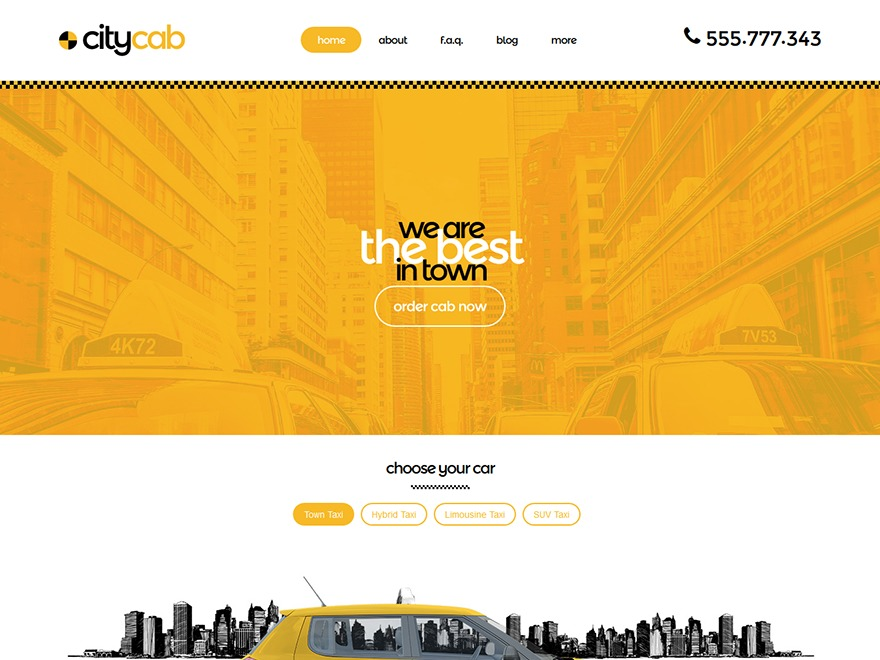 WP CityCab WordPress news template