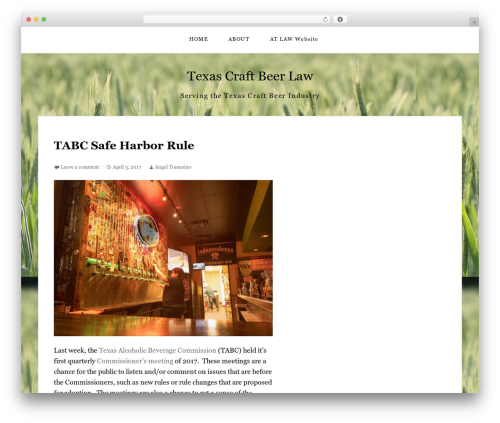 WP template The Thinker Theme - texascraftbeerlaw.com