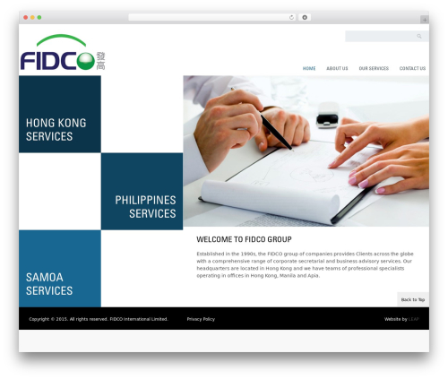 WP theme Klasik - fidcogroup.com