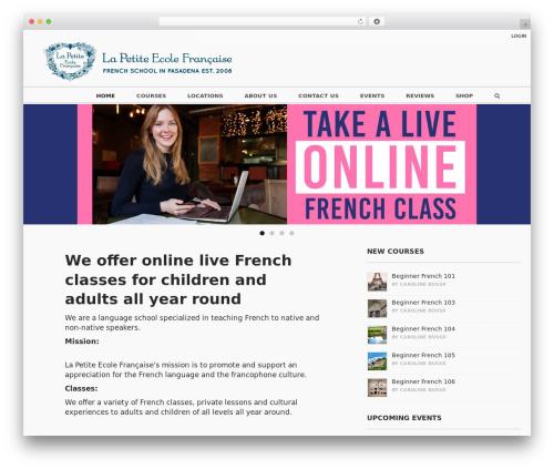 WordPress vibe-course-module plugin - thelittlefrenchschool.com