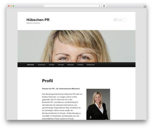 Best WordPress theme Twenty Eleven - huebschen-pr.de