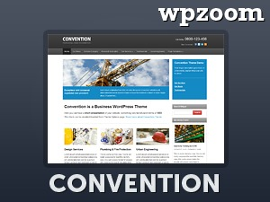 Convention Child Theme WordPress blog template