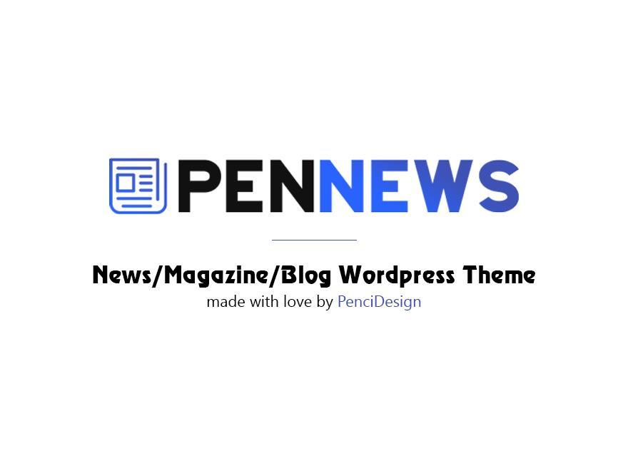 PenNews newspaper WordPress theme