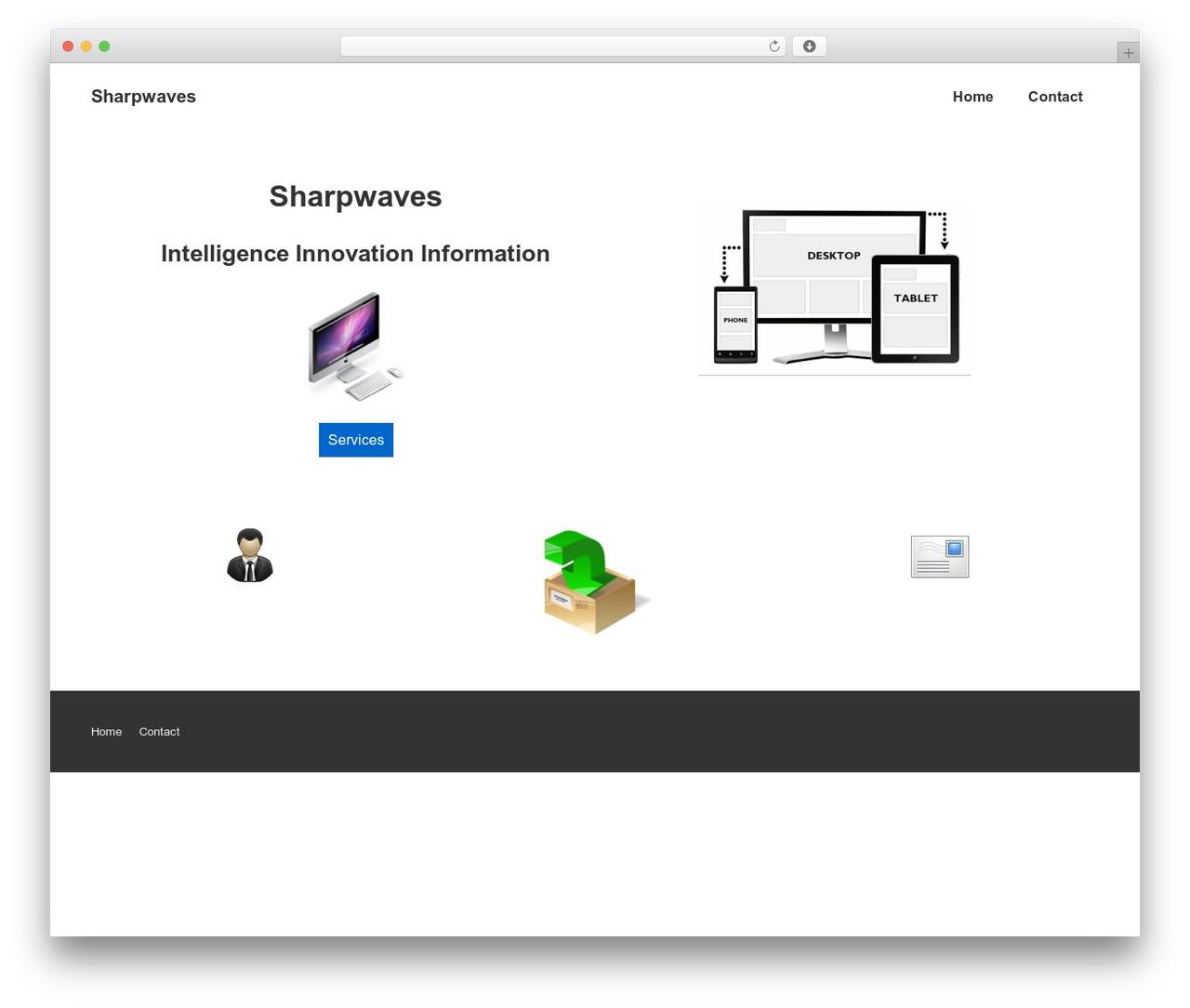 Responsive best free WordPress theme - sharpwaves.co.uk